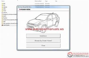 Mitsubishi Outlander Eur 2016 Service Manual Cd