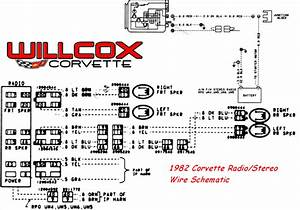 1982 Corvette Stereo  Radio Wire Schematic