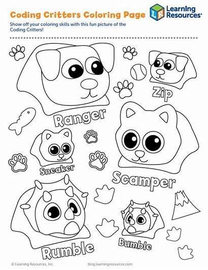 Coding Critters Learning Activity Resources Learningresources Printables