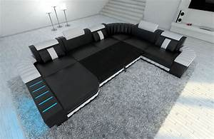 U Sofa Xxl : xxl sectional sofa bellagio led u shaped pink black ebay ~ A.2002-acura-tl-radio.info Haus und Dekorationen