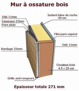 Epaisseur Mur Ossature Bois : coupe mur ossature bois we23 jornalagora ~ Melissatoandfro.com Idées de Décoration