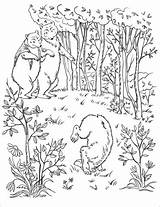 Coloring Bears Wood Into Three Pages Walk Printable Drawing Categories Through Story Goldilocks sketch template