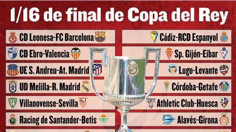 Horarios y dónde ver hoy jueves la Copa del Rey en TV