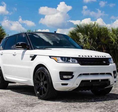 White Range Rover With Black Rims  Land Rover Pinterest