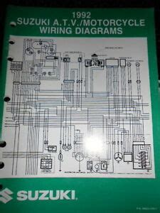 Suzuki Factory Wire Diagram Atv Motorcycle Ebay