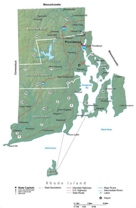 rhode island state map travel information