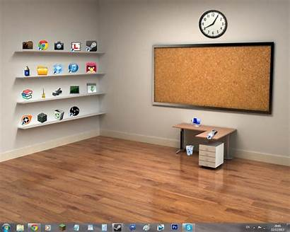 Office Desktop Empty Shelves Pc