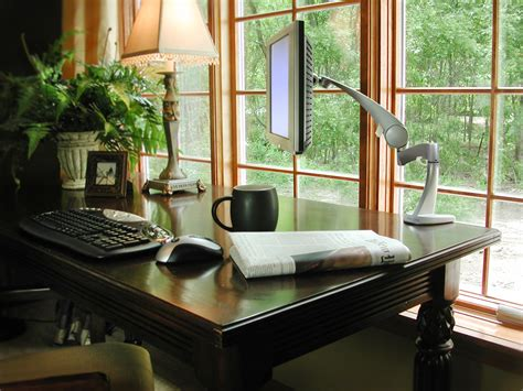 Workspaces With Views That Wow by Team 7 Wood Framed Windows In Home Office With