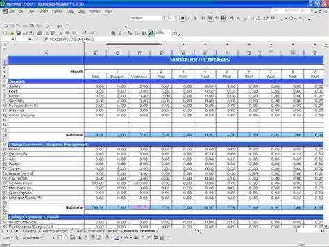 microsoft excel budget template 6 microsoft excel budget template procedure template sle
