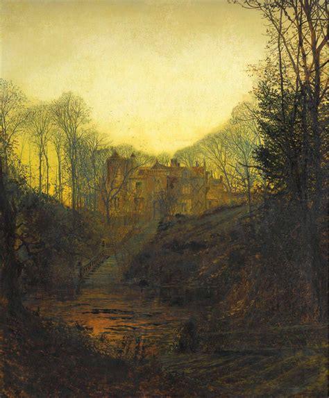 sakrogoatjohn atkinson grimshaw  manor house  autumn