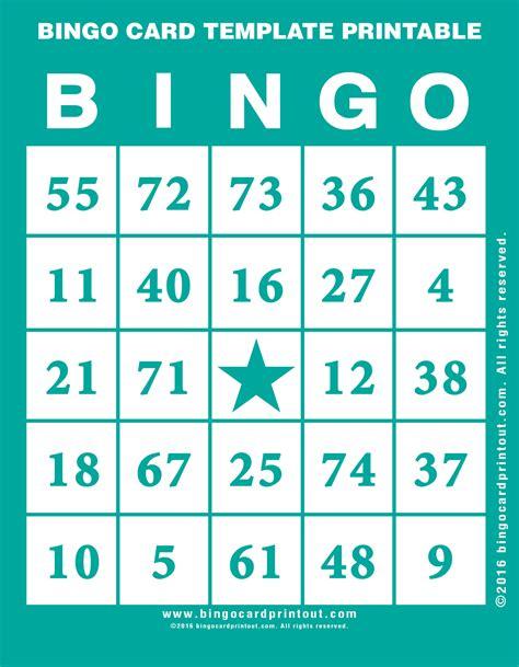 bingo card template printable bingocardprintoutcom