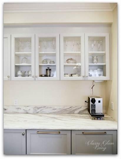 Upper Cabinets Kitchen Glass Update Doors Hood