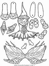 Puppet Coloring Fairy Paper Elf Crafts Pages Puppets Feather Pheemcfaddell Halloween Cut Template Dolls Outs Printable Fairys Fern Fairies Templates sketch template