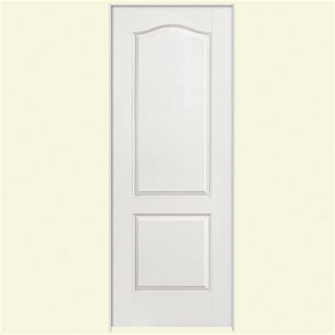 2 panel arch top interior doors masonite 28 in x 80 in textured 2 panel arch top hollow