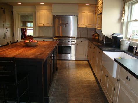 white cabinets with wood countertops furniture old black wood kitchen island with oak butcher