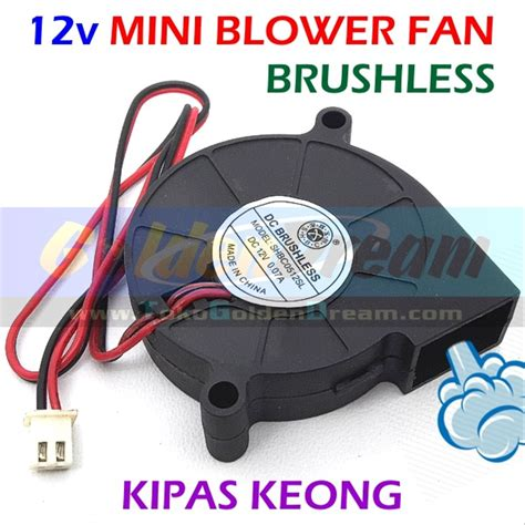 Kipas Angin Mini By Vhivhishop jual 12v mini blower fan kipas keong brushless dc angin