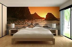 Papier Peint Photo : papier peint photo soleil cache paysage nature le blog ~ Melissatoandfro.com Idées de Décoration