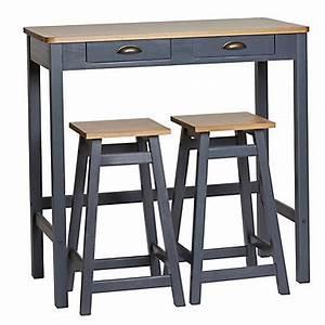 Table De Cuisine Grise : meuble bar pas cher pour salon et cuisine ~ Teatrodelosmanantiales.com Idées de Décoration