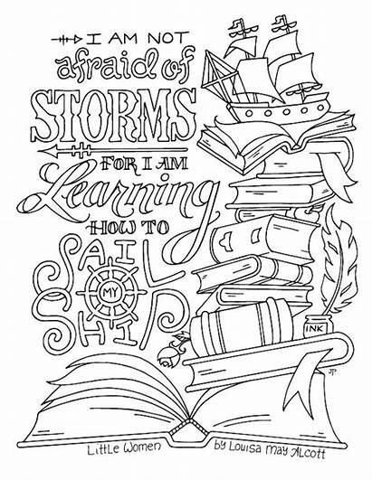 Coloring Pages Quotes Adult Louisa Printable Alcott