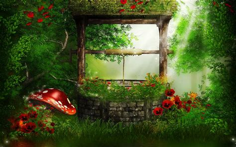 wishing   magical forest hd wallpaper background