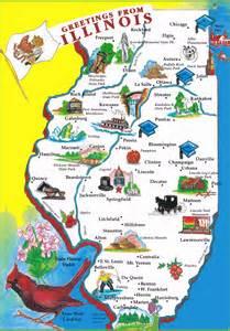 Illinois Map Cartoon