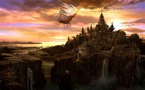 Fantasy City Wallpaper Wallpapersafari