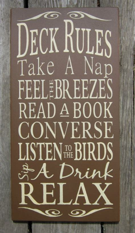 Decks, Signs And Typography On Pinterest