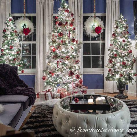 white red  gold christmas home decor ideas