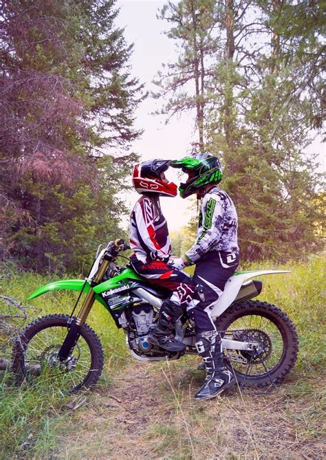 motocross engagement motocross dirt bike couple dirt