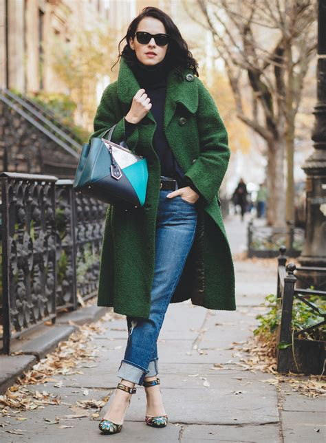 Six Winter Outfit Ideas Using Pantone Greenery Color Trend