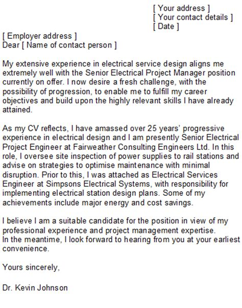 electrician cover letter samples electrical engineering cover letter sample
