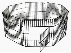 Metal dog puppy rabbit animal playpen run cage 8 sided for Dog run cage enclosure