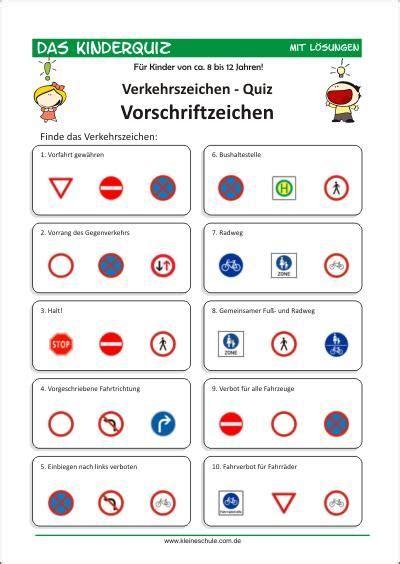Verkehrsregeln Quiz by Quiz Verkehrszeichen F 252 R Kinder 8 12