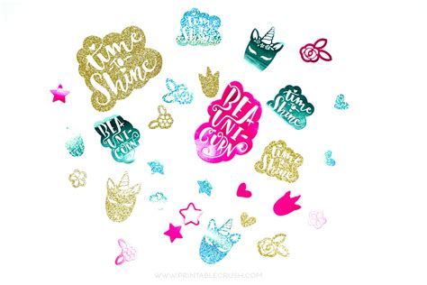 unicorn diy confetti cricut tutorial printable crush