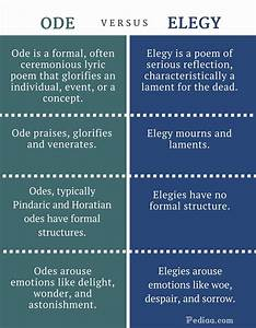 Difference Between Ode and Elegy