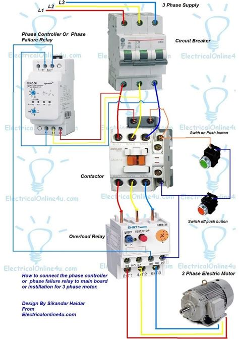 3 phase motor wiring diagram contactor relay fuse box