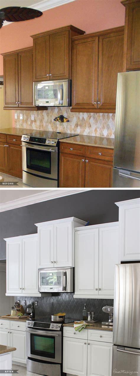 painted kitchen cabinets  tile backsplash  year