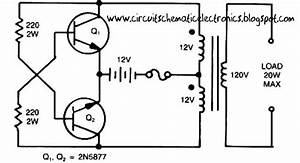 This Is A Simple Inverter Circuit From 12 V Up To 120v