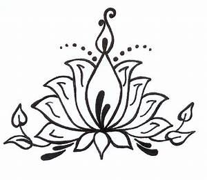 Lotus Flower Henna Drawing | makedes.com