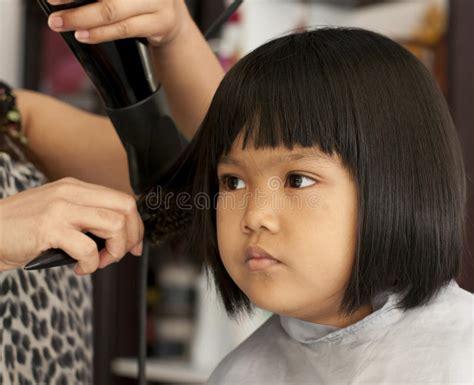 young girl   haircut stock image image  hair
