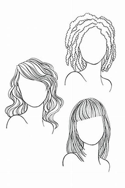 Face Hair Hairstyles Haircut Haircuts Drawing Draw