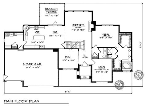 Spacious 3 Bedroom House Plan 89459AH Architectural