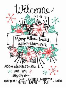 Holiday Bazaar Flyer The Lovely Forest Holiday Craft Fair Poster Holiday