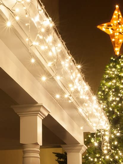 led christmas lights  mm warm white led icicle lights