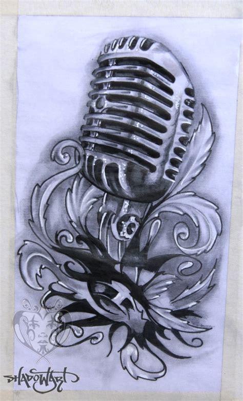 drawn tattoo mic pencil   color drawn tattoo mic