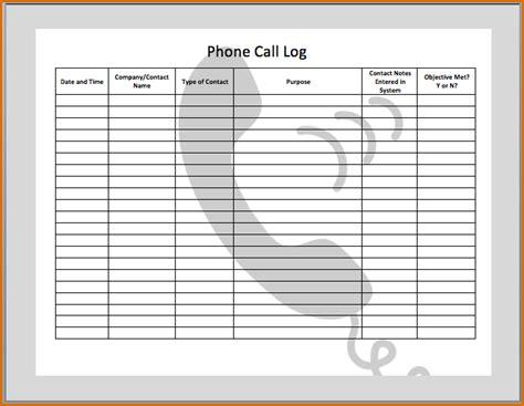 phone log template authorizationlettersorg