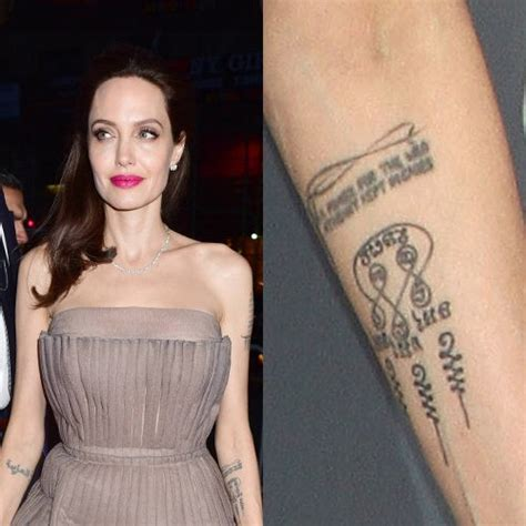 angelina jolies  tattoos meanings steal  style