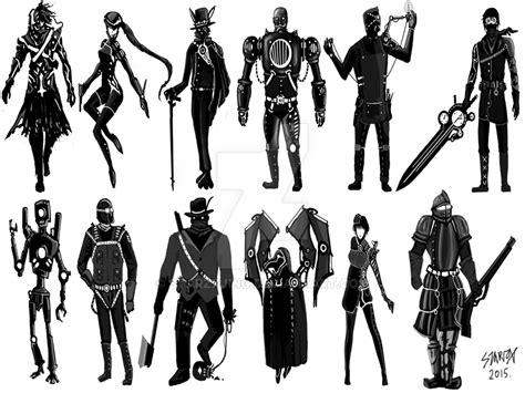 Character Silhouette 1 Steampunk By Starzxjing On Deviantart