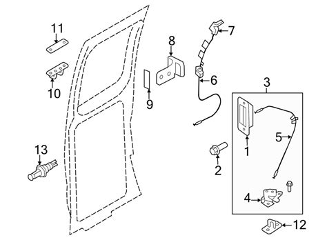 Ford E 250 Part Diagram by Ford E 250 Door Latch Assembly Hinged Rear Door