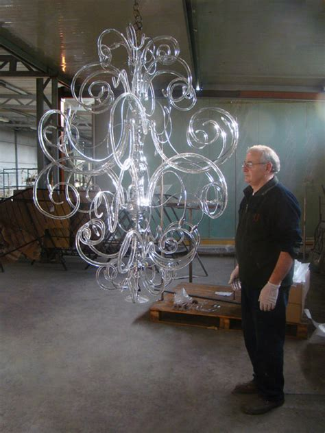 assembling and testing modern contemporary murano glass